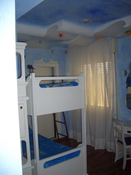 Vista stanza con letto a castello