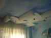 Particolare del soffitto a onde