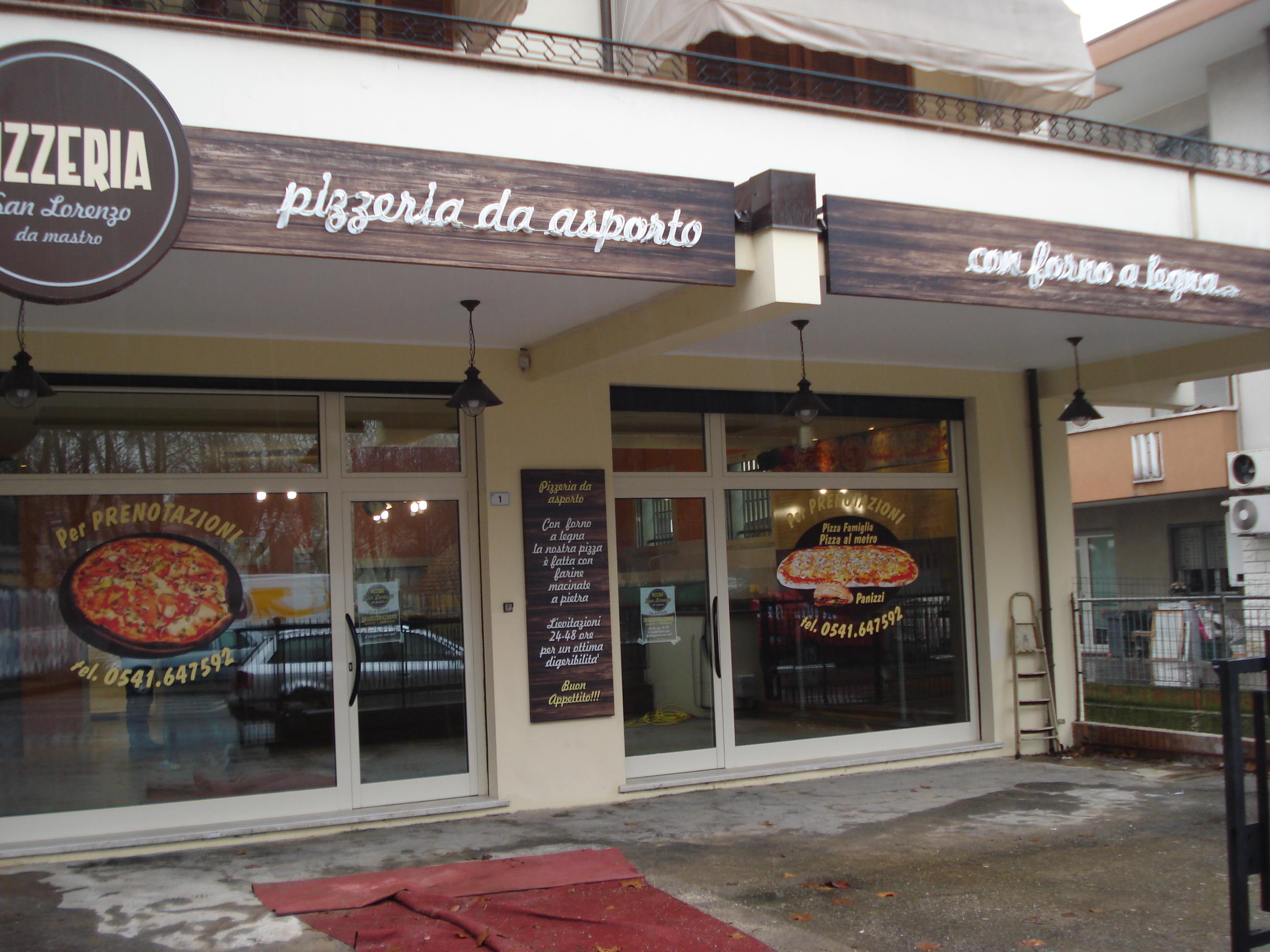 Apertura a san lorenzo di riccione nuova pizzeria da for Pizzeria arredamento