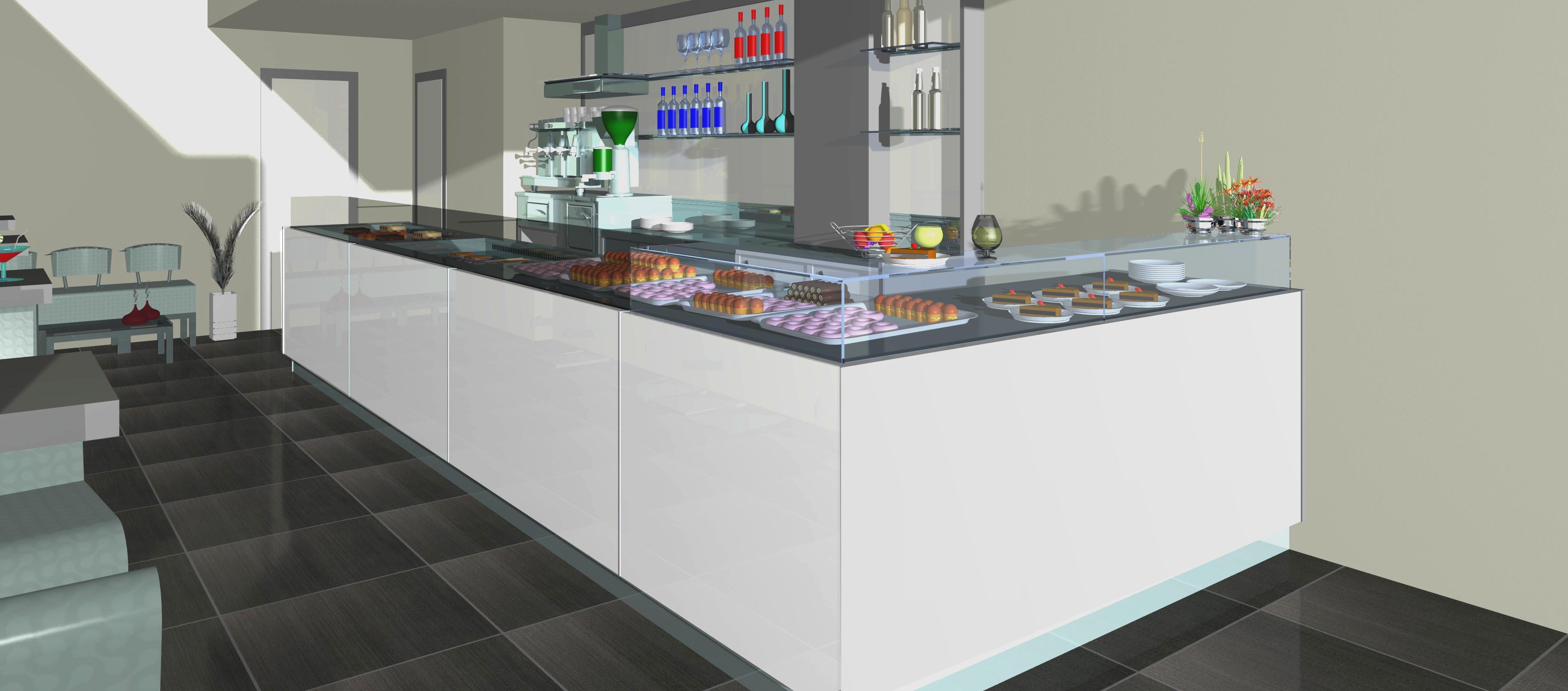 Render bar pasticceria gab arreda rimini for Arredamento usato bar